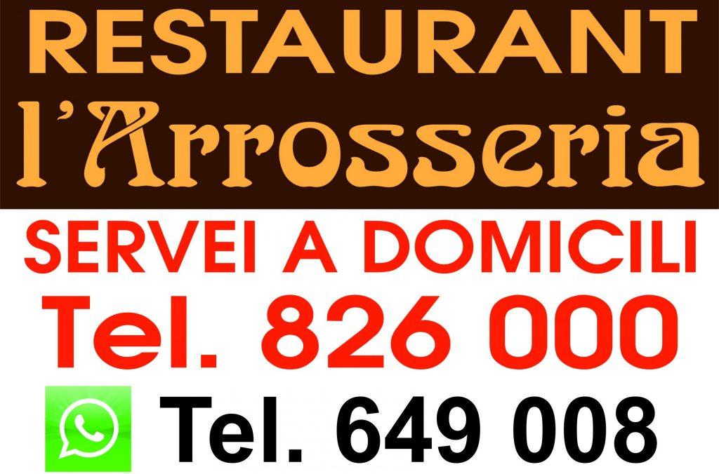 Restaurant L'Arrosseria Andorra la Vella ( Andorra la Vella ) C/ de la Vall 1 (+376) 826 000 arrosseria@hotmail.com El restaurant L'Arrosseria está en el centro de Andorra la Vella, en medio del centro histórico de la capital, y tiene capacidad para 30 personas. Se especializa en platos de cocina casera. RESTAURANT ARROSSERIA ANDORRA Al costat del Comù d'Andorra la Vella Tel. +376.826.000 – Al Carrer de la Vall, 1 – Andorra la Vella – RESTAURANT ARROSSERIA ANDORRA MARISCADAS, ARRÒS CALDÓS, PAELLA ESCOPINYES, PAELLA DE GALERES, PAELLA DE LLAMÀNTOL, ESPECIALISTES EN ARROSSOS CALDOSOS i PAELLES ESCOPINYES. Telf. RESERVES: T.+376.826.000. arrosseria@hotmail.com